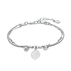 LC Lauren Conrad Leaf Beaded Double Strand Bracelet