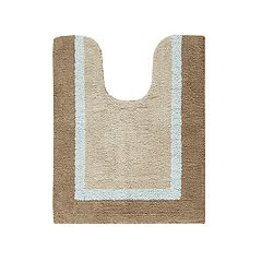 Madison Park Striped Contour Bath Rug