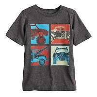 Boys 4-10 Jumping Beans® Four Trucks Grid Graphic Tee