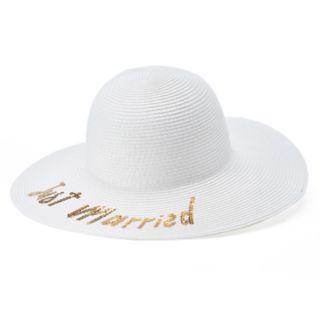 """Women's """"Just Married"""" Floppy Sun Hat"""