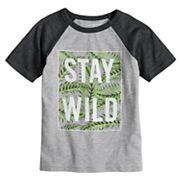 Boys 4-10 Jumping Beans® 'Stay Wild' Raglan Graphic Tee