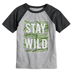Boys 4-10 Jumping Beans® 'Stay Wild' Raglan Graphic Tee