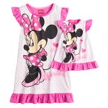 "Disney's Minnie Mouse ""Adorable"" Dorm Nightgown & Doll Nightgown"