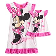 Disney's Minnie Mouse 'Adorable' Dorm Nightgown & Doll Nightgown