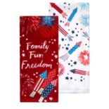Celebrate Americana Together Family Freedom Kitchen Towel 2-pack