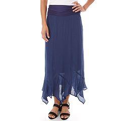 Women's Apt. 9® Handkerchief Hem Maxi Skirt