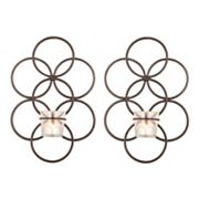 San Miguel Votive Candle Holder Wall Sconce 4 pc Set