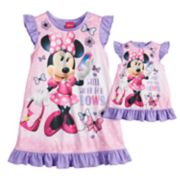 "Disney's Minnie Mouse ""Work for Bows"" Dorm Nightgown & Doll Nightgown"