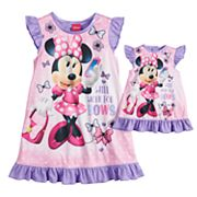 Disney's Minnie Mouse 'Work for Bows' Dorm Nightgown & Doll Nightgown
