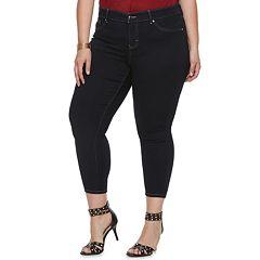 Plus Size Jennifer Lopez Crop Midrise Super Skinny Jeans