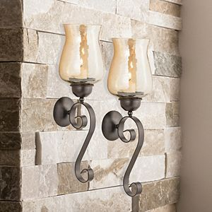 San Miguel Hurricane Votive Candle Holder Wall Sconce 4-piece Set