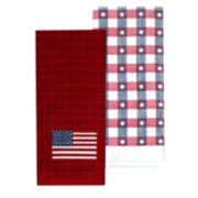 Celebrate Americana Together Flag Patch Kitchen Towel 2-pack