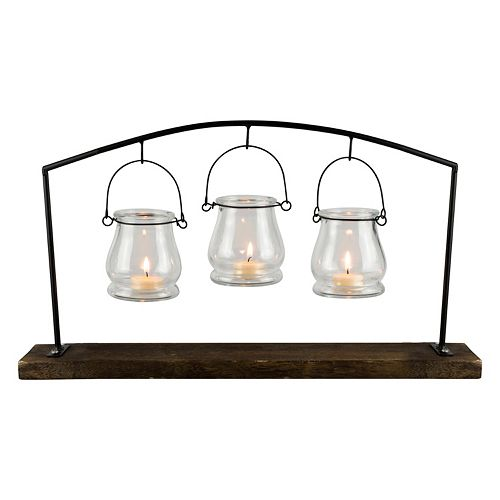 San Miguel Hanging 3-Light Votive Candle Holder 4-piece Set