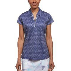 Women's Pebble Beach Jersey Print Short Sleeve Golf Polo