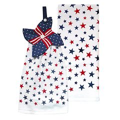 Celebrate Americana Together Pinwheel Kitchen Towel 2-pack
