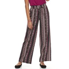 Juniors' Joe B Print Palazzo Pants