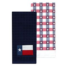 Celebrate Americana Together Texas Flag Patch Kitchen Towel
