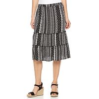 Women's Studio 253 Tiered Midi Skirt
