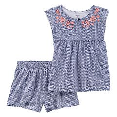 Toddler Girl Carter's Floral Top & Shorts Set