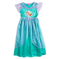 Disney's Ariel Toddler Girls Fantasy Gown Dress Nightgown
