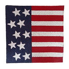 Celebrate Americana Together Beaded Flag Placemat