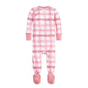 Baby Girl Burt's Bees Baby Buffalo Check Organic Sleep & Play