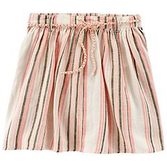Toddler Girl Carter's Striped Linen Skort
