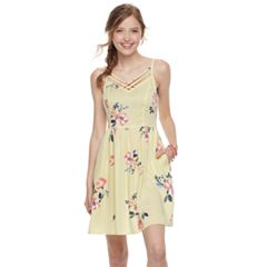 Juniors' SO® Floral Strappy Skater Dress