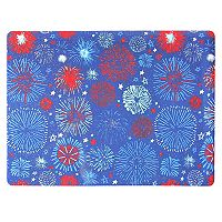 Celebrate Americana Together Vinyl Fireworks Placemat