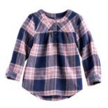 Baby Girl Jumping Beans® Plaid Lurex Henley