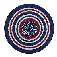 Celebrate Americana Together Round Braid Placemat