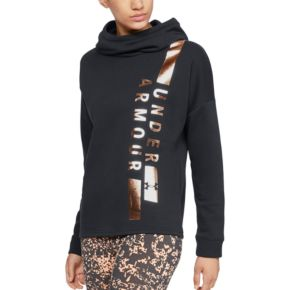 Women's Under Armour Rival Vertical Graphic Funnel-Neck Hoodie