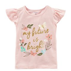 Toddler Girl Carter's 'My Future Is Bright' Glittery Graphic Tee
