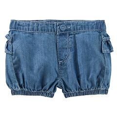 Baby Girl OshKosh B'gosh® Ruffled Chambray Bubble Shorts