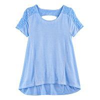 Girls 7-16 Plus Size Mudd® Lace Keyhole Swing Tee