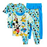 Disney's Mickey Mouse, Donald Duck, Goofy & Pluto Toddler Boy Tops & Bottoms Pajama Set
