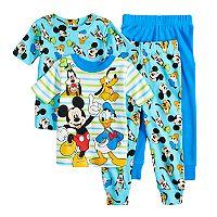 Disney's Mickey Mouse, Donald Duck, Goofy & Pluto Toddler Boy Tops & Bottoms Pajama Set