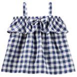 Baby Girl OshKosh B'gosh® Gingham Bow Tank Top