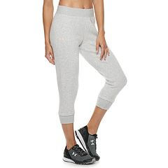 Women's Under Armour Rival Mid-Rise Crop Sweatpants