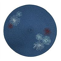 Celebrate Americana Together Round Fireworks Placemat