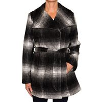 Women's Braetan Plaid Wool Blend Wrap Coat