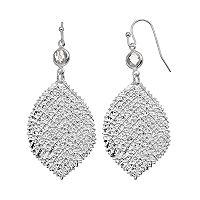 LC Lauren Conrad Textured Nickel Free Leaf Drop Earrings