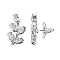 LC Lauren Conrad Blue Leaf Drop Earrings