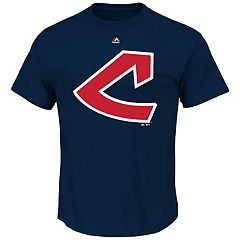 Men's Majestic Cleveland Indians Cooperstown Official Logo Tee