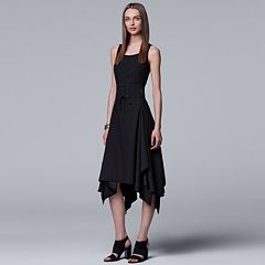 Women's Simply Vera Vera Wang Corset-Waist Handkerchief Hem Dress