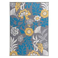 World Rug Gallery La Jolla Modern Large Flowers Rug