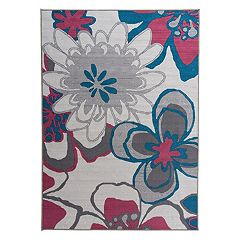 World Rug Gallery La Jolla Contemporary Large Flowers Rug