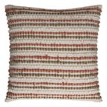 Rizzy Home Stripe Textured Linen Cotton Blend Throw Pillow