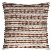 Rizzy Home Stripe Textured Linen Cotton Blend Throw Pillow