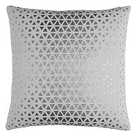 Rizzy Home Textured Foil Diamond Duck Cloth Throw Pillow